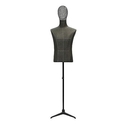 AJZGF Maniqui de Costura Modelos Masculinos Medida, la Cabeza, el Torso Alambre de Metal escaparate Tienda de Ropa maniqui Mujer
