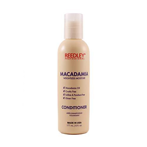 Reedley - Après-Shampoing Macadamia Volumisant - Après-Shampoing Cruelty Free - Sans Gluten - Après-Shampoing Sans Sulfate et Sans Paraben - Brillance, Hydratation et Renforcement du Cheveu