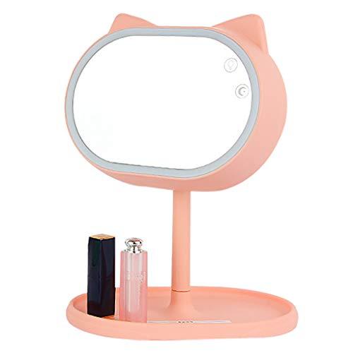 LED Lighted Vanity Miroir De Maquillage Et Lampe De Table Touch Control Illuminate Design 360 DegréS Rotation Table Bathroom Miroir CosméTique Countertop