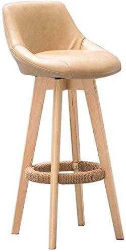 Vintage Sillas de cocina de madera Silla de la PU SEAT TOOLS SÓLIDO HABLE TABLES HIJO HABITA DE TABILLOS DE TABILIDAD COMEDOR SECENDIENTE Piernas naturales con almohadilla amortiguada contemporánea pa