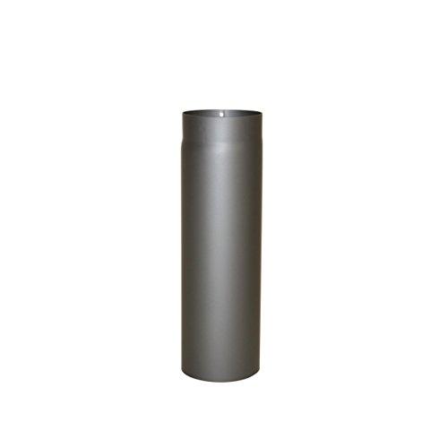 Ofenrohr Senotherm® 2 mm Ø 120 mm hitzebeständig lackiert, gerade - Rauchrohr, Kaminrohr gussgrau - für Pellettofen und Kamine - Länge: 500 mm