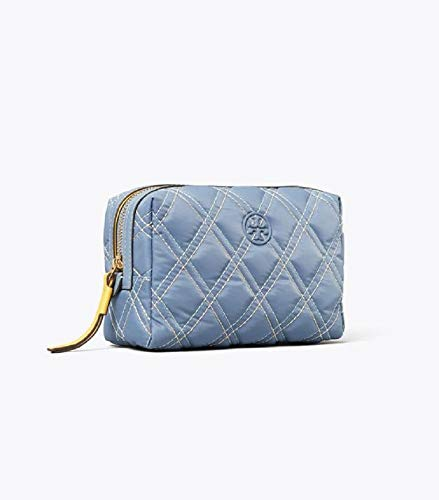 Tory Burch Perry Nylon Mixed-stitch Small Cosmetic Case Bluewood