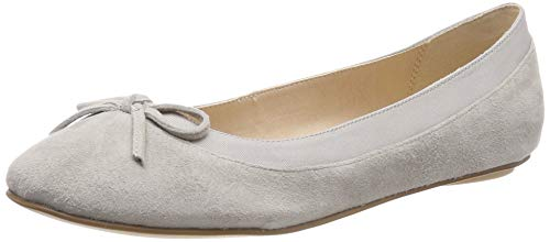 Buffalo Damen ANNELIE Geschlossene Ballerinas, Grau (Light Grey 001), 39 EU