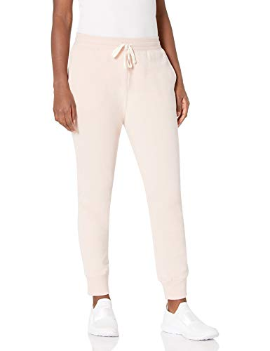 Amazon Essentials Women's Relaxed Fit French Terry Fleece Jogger Sweatpant, light pink, Medium