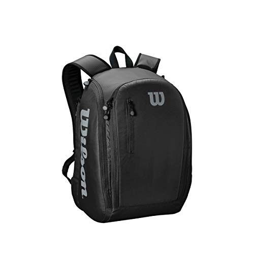 Wilson Tour Backpack Mochila de tenis, para hasta 2 raquetas, unisex, negro