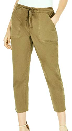 GUESS Womens Anya Casual Solid Cargo Pants Green 6