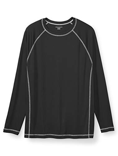 Amazon Essentials Men's Big & Tall Long-Sleeve Quick-Dry UPF 50 Swim Tee fit by DXL, -Black, 5XL