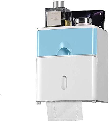 WTT Papierhanddoekhouder, tweelaags doorslagvrije, waterdichte papierrolhouder, wandmontage, meerkleurig, optioneel 17,6 cm × 13,6 cm × 20,6 cm (kleur: C)