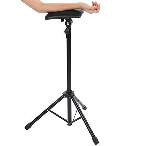 Bracciolo per tatuaggi professionale 83-136 cm per salone, Cuscino di sostegno regolabile per treppiede per gambe di riposo