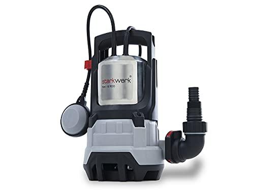 Schmutzwasser Tauchpumpe Gartenpumpe Wasserpumpe Gartenbewässerung 15000 l/h 1100 Watt 1 Bar Starkwerk SW-K 1200