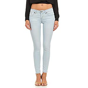Cuffed Skinny Jeans for Women Juniors and Plus Size Low or Mid Rise