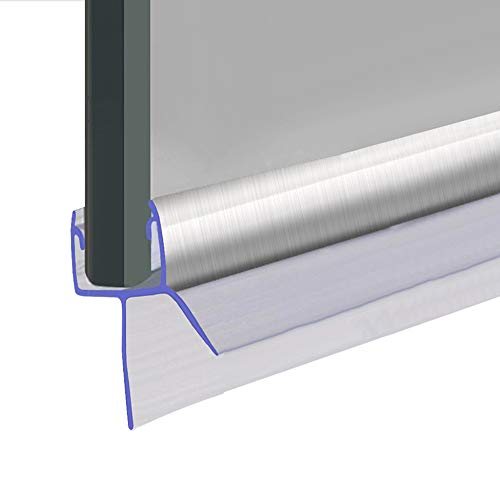 Joint d'étanchéité de porte de douche ou de pare-baignoire en chrome - Convient aux vitres de 8, 9 ou 10 mm - Scelle les interstices jusqu'à 12 mm - 80 cm, 90 cm ou 2 m de long - SEAL010CP