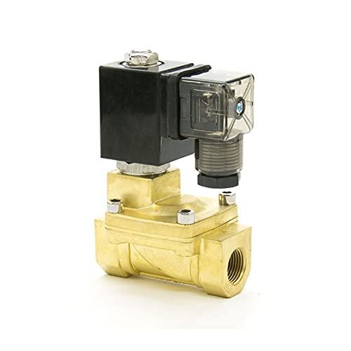 HLY Trading Válvula solenoide Normalmente Cerrada 2way piloto diafragma de latón eléctrico 12V 24V 110V 220V Válvula solenoide de Agua Aire 1/2 Pulgada (Voltage : DC24V)