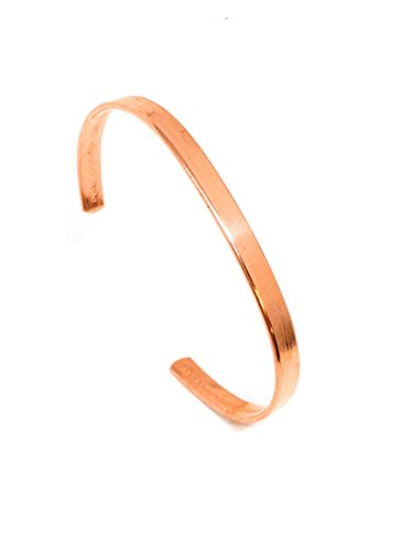 Kupfer-Magnetarmband – Arthritis-Therapie Heilung – für Herren/Damen (6 mm geprägt (kein Magnet)
