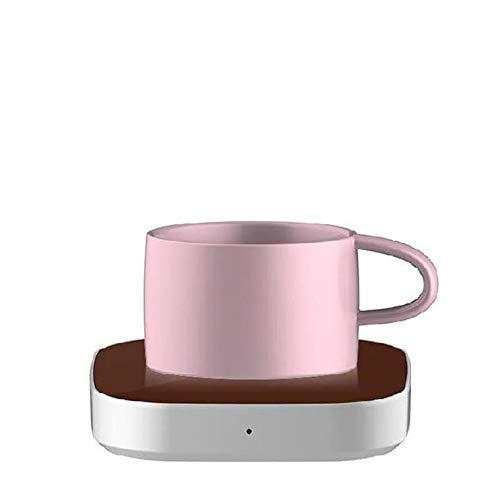 LJW verwarmingsplaat voor thee, koffiewarmer, kunststof glas, zwaartekrachtsensor, waterdicht, explosiebeveiligd, 5 V, 112 x 112 mm, 2