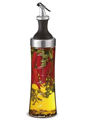 A|M|I|N|A Ölflasche aus Glas mit Kräutersieb - 570 ml (Provence) Öl Spender zur Herstellung von Aroma-Öl | Auslaufsicher und Spülmaschinenfest (transparent)