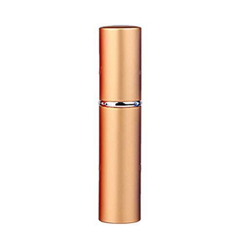 collectsound 5 ML Accessoire de Voyage Portable Parfum Rechargeable Atomiseur Vide Flacon pulvérisateur, doré, Taille Unique