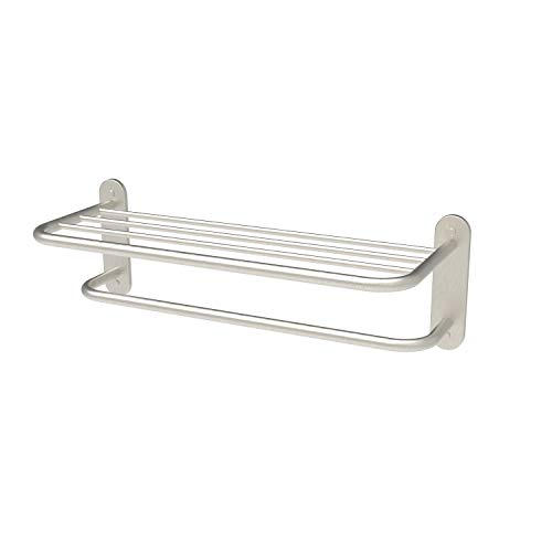 Fixsen 18 Inch Bathroom Towel Rack Towel Bar Towel Shelf Brushed Nickel Stainless Steel and Zinc Alloy Wall Mount 1pc for House and Hotel