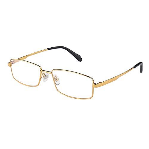 Gafas De Lectura Multifocales Progresivas Con Montura Completa De Titanio Puro Comercial Ultraligero Y Gafas De Sol Uv400 De Transición Fotocromática
