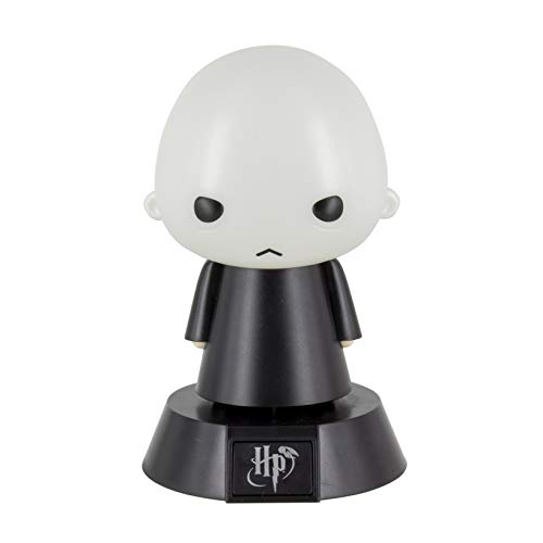 Harry Potter Mini Lámpara Icon Light Voldemort Negro/Gris, Impresa, De plástico, En Caja de Regalo