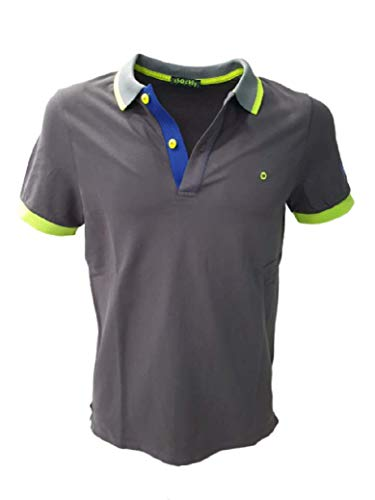 Shockly Herren-Poloshirt Art.M-Poloshirt Cool Grey Antrax, Grau 58