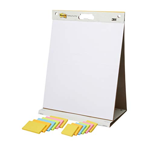 ポストイット アイスブレイクミーティングセット イーゼルパッド 卓上タイプ & 強粘着 ノート 6個パック 2...