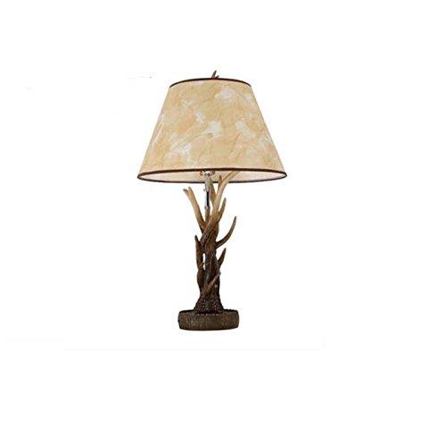 ZWL Lampe de table à décoration rétro, studio d'étude créatif Décoration de bureau Lampe de table en résine Simple tête E27, 77 * 45CM Power Button Button Holiday Gifts fashion.z (taille : 77 * 45cm)