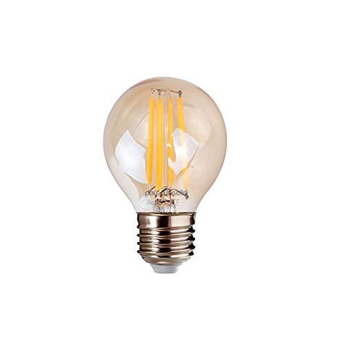 Paul Russells Golf-Leuchtmittel, 2 W = 25 W, E27, Edison-Schraube, 2 W, G45, 360 Strahler, 2200 K, extra warmweiß, 25 W Glühlampe, 2 Stück