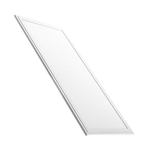 LED Panel 120x30cm, weiß, 45W LED Büroleuchte, Pendelleuchte, flache LED Deckenleuchte, Wohnzimmer-Lampe (warmweiß, nicht dimmbar)