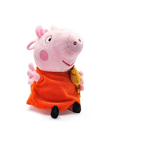 whbage Peluche Pig 19cm Cartoon Animal Stuffed Plush Toys Doll Friend Family Party Keychain Pendant Toy Kid Gift