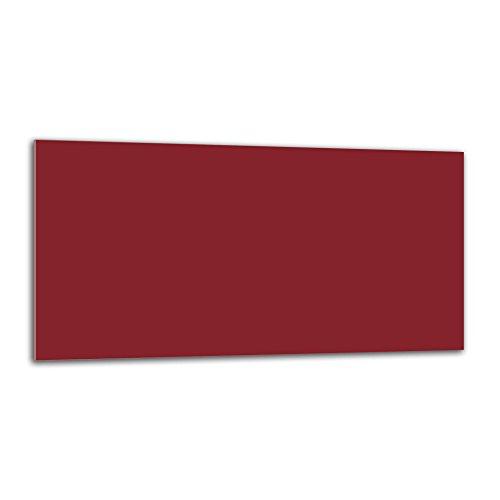 decorwelt Küchenrückwand Spritzschutz aus Glas 80x40 Wandschutz Herd Spüle Küchenspritzschutz Fliesenschutz Fliesenspiegel Küche Dekoglas Dunkel Rot