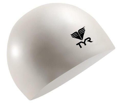 TYR Latex Swim Cap, White