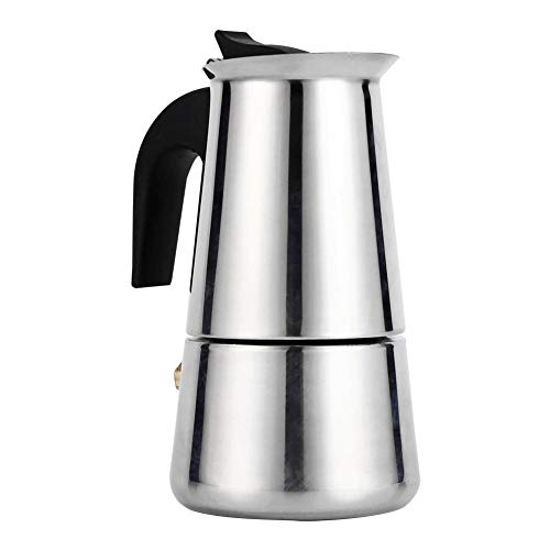 Raguso Cafetera de 4 tamaños, Acero Inoxidable, Duradera, Resistente, Disponible, cafetera, Estufa para Oficina doméstica(100ml)