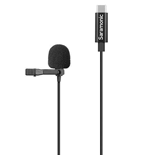 Saramonic Micrófono Lavalier omnidireccional compacto con clip diseñado para DJI Osmo Action con cable de 2 m y conector USB-C (LAVMICROU3-OA)