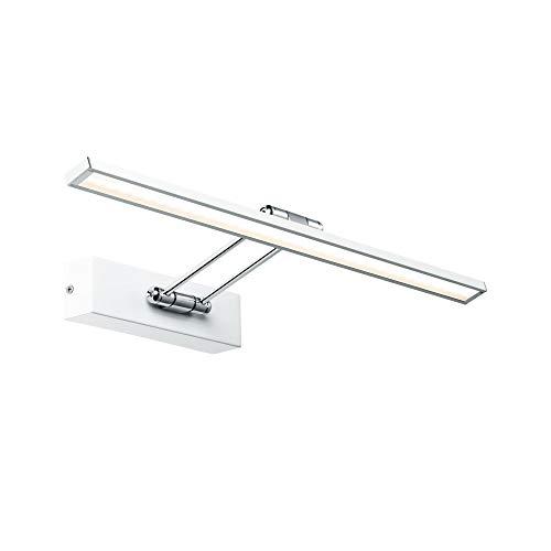 Paulmann 99892 LED Bilderleuchte Galeria incl. 1x7 Watt Bildbeleuchtung Weiß, Chrom Bilderlampe Metall Aufsatzlampe 2700 K