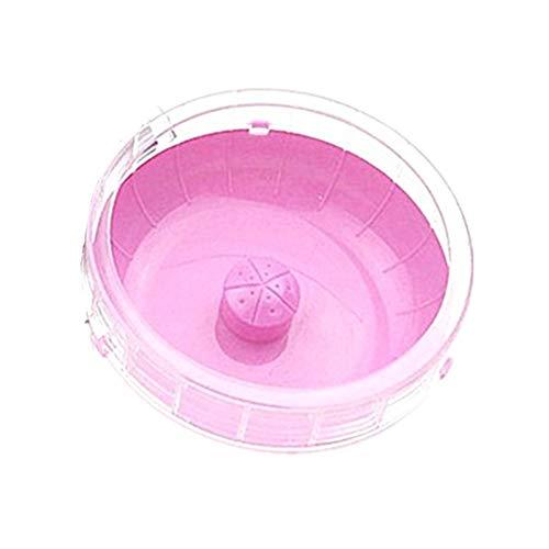 HOSui Juguetes para Hamsters Rueda Hamster Juguetes para Conejos Bola Hamster Cobayas Accesorios Casa Hamster para HáMsters Ardillas Chinchillas Animales PequeñOs Pink