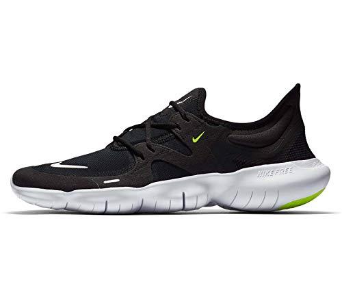 Nike Free RN 5.0, Kombi(blackwhiteanthracitevol), Gr. 8