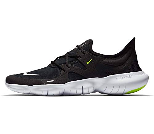 Nike Herren Laufschuhe Free RN 5.0 schwarz-blau-Silber - 9,5/43