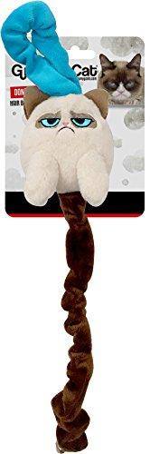 OSKR 14205 Grumpy Cat Interaktives Katzenspielzeug mit Langem Schwanz Für Die Türklinke Für Wohnungs und Freigänger