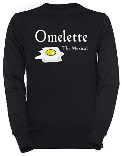 Luxogo Omelette The Musical! (Something Rotten) Unisex Schwarz Jumper Sweatshirt Herren Damen Unisex Black Jumper Men's Women's