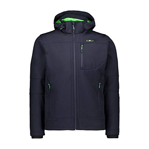 CMP Herren Giacca Softshell Con Tecnologia Climaprotect Wp 7.000 Jacke, B.Blue/Verde Fluo, 54