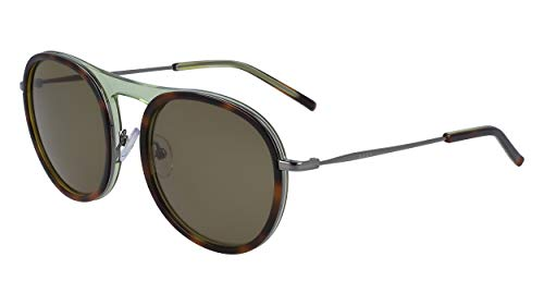 DKNY Damen DK700S Sunglasses, Soft Tortoise/Green, One Size