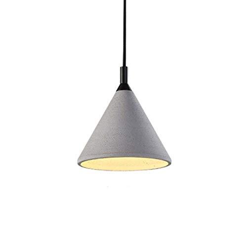 MMDJ Luz Pendiente de la lámpara Pendiente de la lámpara Retro nórdica Creative Light Fixture Comedor Salón Habitación Hotel iluminación,B:18x20cm
