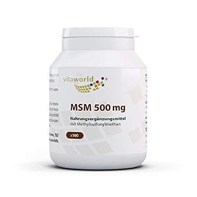 Vita World MSM 500mg 100 Kapseln Apotheken Herstellung