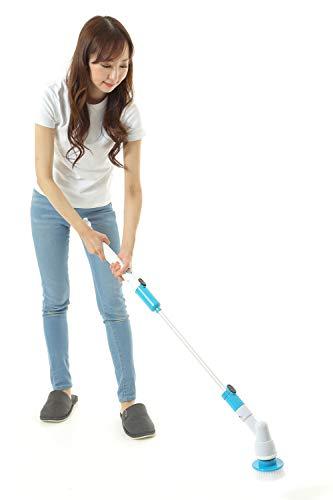 ターボスクラブZ 充電式回転ブラシ ラクピカ☆スクラブ掃除「ターボ スクラブ」は立ったままお風呂掃除。女性でもラクラク軽量1kg以下