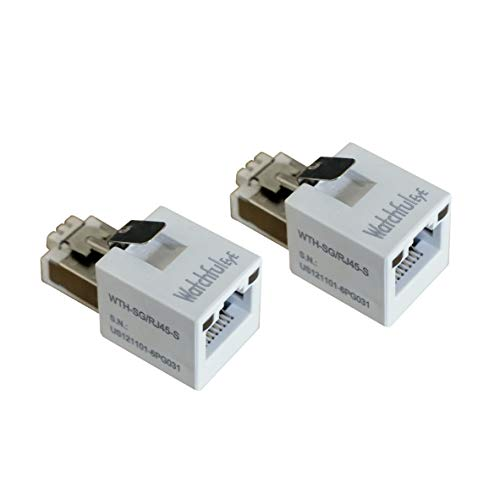 WatchfulEyE WTH-SG/RJ45-S x2pcs Direct in Line Plug-in Ethernet Surge Protector