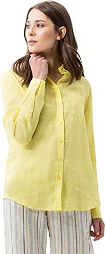 BRAX Damen Style Victoria Leinen Bluse, Beige (Yellow 65), 42