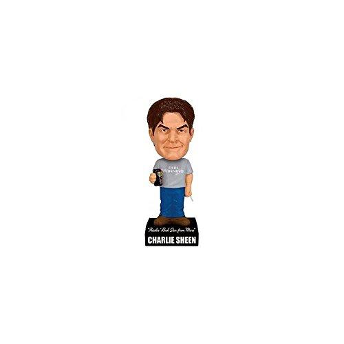 Charlie Sheen als Charlie Hunter Wacky Wobbler 18cm Wackelkopf-Figur mit Sound Two & A Half Men