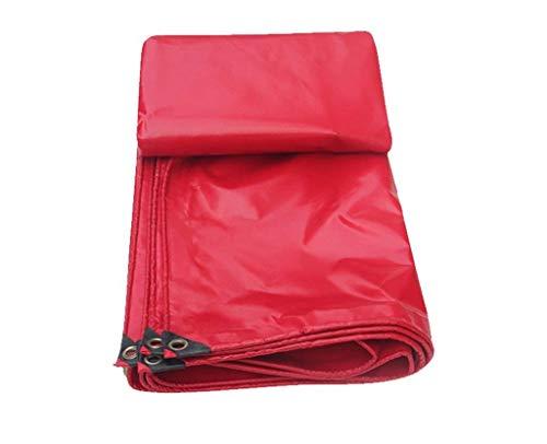 Bâche robuste résistant à l'eau Bâche, bâche résistante imperméable à l'eau, approprié à la couverture d'article, décoration de jardin, camping en plein air, tente de camp, options multi-taille, rouge