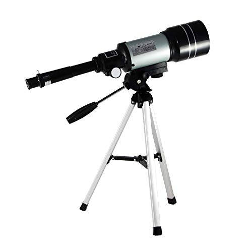 Adultos Niños Telescopios para astronomía Profesional Alto aumento 70 mm 150X Montaje de apertura Telescopio de refracción Zoom Monocular portátil con trípode Observación espacial para principiant